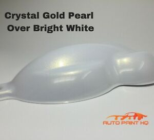 Tri coat Gold Pearl Over Bright White Basecoat Quart Car Motorcycle Paint Kit