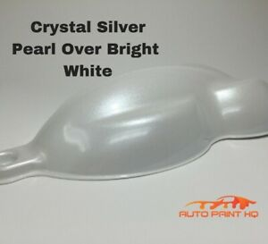 Tri coat Silver Pearl Over Bright White Basecoat Quart Car Motorcycle Paint Kit