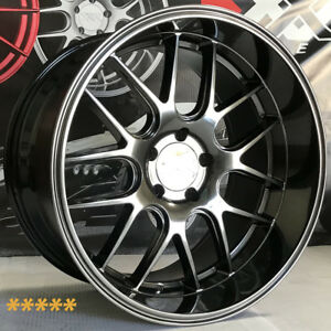 Xxr 530d Wheels 18 20 Hyper Black Staggered 5x4 5 01 Ford Mustang Bullitt Fox 4