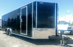 H h 8 1 2 X 24 Enclosed Car Hauler Race Trailer Extra Height Black 10k Rated