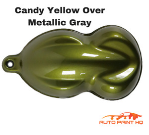 Candy Yellow Over Gray Basecoat Quart Car Vehicle Motorcycle Auto Paint Kit