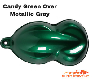 Candy Green Over Gray Basecoat Quart Car Vehicle Motorcycle Auto Paint Kit