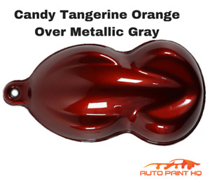 Candy Orange Over Gray Basecoat Quart Car Vehicle Motorcycle Auto Paint Kit