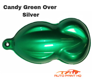 Candy Green Over Silver Basecoat Quart Car Vehicle Motorcycle Auto Paint Kit