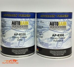 Epoxy Primer Surfacer Dtm Gallon Kit Car Vehicle Auto Gray Black White Or Red