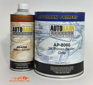2k Urethane Sealer Primer Gallon Car Vehicle Auto Gray Black Or White Kit