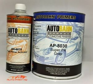 Super Fill 2k Urethane High Build Primer Surfacer Gallon Car Auto Gray Or Black