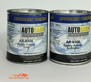 Epoxy Primer Surfacer Dtm Quart Kit Car Motorcycle Auto Gray Black Or White