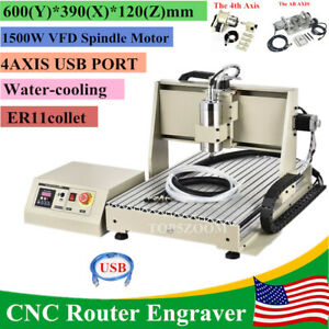 6040 5axis Cnc 1500w Router Engraving Usb Port Machine Metal Milling Machine New