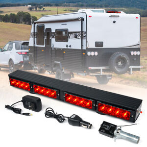 Xprite Red 21 5 Wireless Led Light Bar Traffic Advisor For 12v Tow Truck Pickup