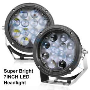 7inch 240w Cree Led Driving Lights Spotlights Offroad Truck Suv Round Headlights