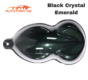 Black Crystal Emerald Basecoat With Reducer Gallon Basecoat Only Paint Kit