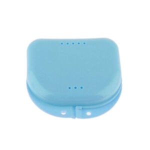 Air Hole Dental Orthodontic Retainer Box Denture Mouth Guard Case Blue