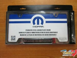 2011 2019 Jeep Wrangler Chrome Plated License Plate Cover New Mopar Oem