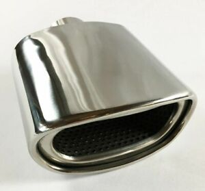 2x Exhaust Tip 2 25 Inlet 5 5 X 3 High 7 Lg Double Wall Rolled Oval Resonated
