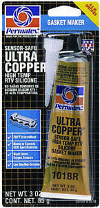 Permatex Ultra Copper Silicone Gasket Sealant 3oz 81878