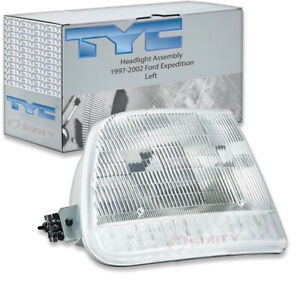 Tyc Left Headlight Assembly For 1997 2002 Ford Expedition Dc