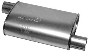 Dynomax 17792 Super Turbo Muffler 5 5 X 11 3 In Inlet Outlet Oval