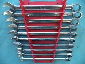 Snap On Metric Combination Wrench Set Oexm710 10mm 19mm 10 Pc W Rack Nice