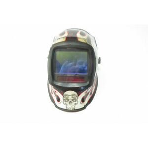 Millers Digital Infinity Flaming Skull Welding Helmet