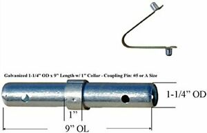 12 Scaffold Coupling Pin 1 1 4 od X 9 l With 1 Collar 12 Spring Retainer Cbm