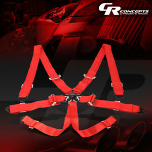 Nrg Universal 6 point Cam Lock 2 width Safety Racing Seat Belt Harness Sbh 6pcrd