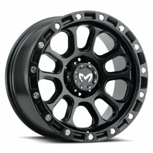 4 Mkw Offroad M204 18x9 6x5 5 1mm Satin Black Wheels Rims