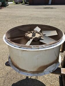 Paint Booth Exhaust Fan 34 Inch Diameter Includes Motor Mount Without Motor