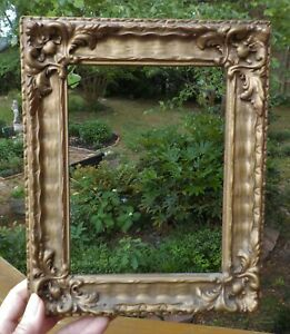 Antique Edwardian Gold Paint Compo Small French Style Frame 6 X 8 In C1900s