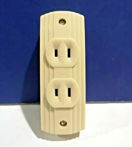 Leviton Ivory Surface Mount Table Tap Duplex Receptacle Vintage 5230 i New Wow