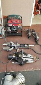 Set Hurst Jaws Of Life Extrication 5000 Psi Hydraulic Pump Complete Setup