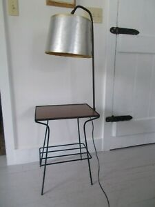 Paul Mccobb Style Mid Century Modern Rod Iron Table Reading Side Lamp Mcm 50 S