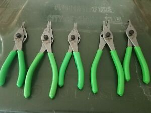 Snap On Convertible Green Snap Ring Pliers Set New