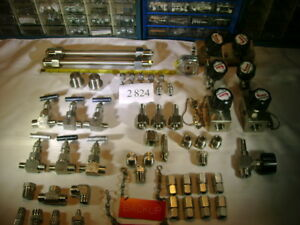 Lot Parker Concoa Swedglock Whitey Valve Cga 346 Stainless Steel Fittings