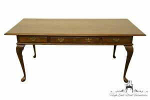 Cushman Colonial Rustic Country French Solid Oak 72 Writing Desk