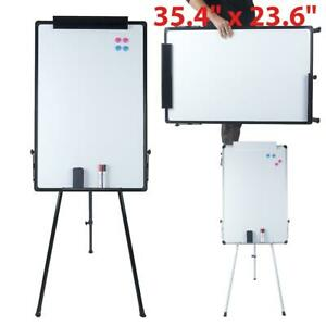 35 4 X 23 6 Magnetic Dry Erase Whiteboard With Tripod Stand Display Adjustable