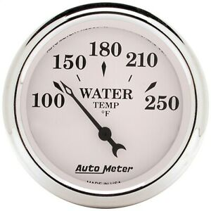 Auto Meter 1638 Old Tyme White 2 1 16 Electric Water Temp Gauge 100 250 Deg F