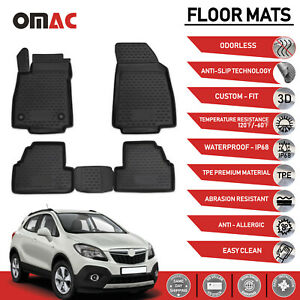 Floor Mats Liner 3d Molded Fit Black Set For Buick Encore 2013 2019