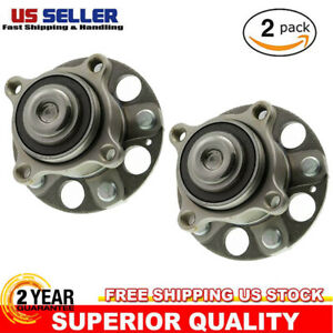Set Of 2 Rear Wheel Hubs With Bearings Fits 08 12 Honda Accord 09 14 Acura Tsx