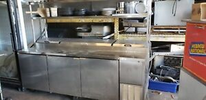 Pizza Prep Table Refrigerated 93 True Tpp 93 With Overshelf