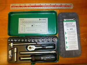 Stahlwille germany 19pc 1 4 Dr Hexagon Socket Set 3 5mm 13mm free Uk Postage