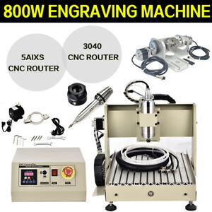 5 Axis Usb Cnc 3040z Router Engraver Milling Drilling Metal Carving Machine 800w