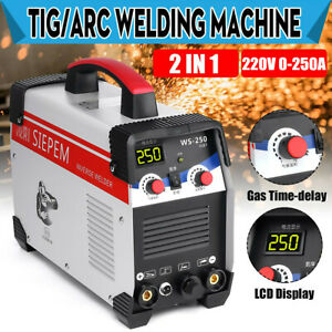 2 In 1 7000w Tig Stick arc Inverter Welding Machine 250a Tig mma Welder 220v Kit