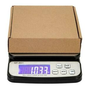110 Lb X 0 1 Oz Digital Shipping Postal Scale With Adapter And 3x Aaa Battery