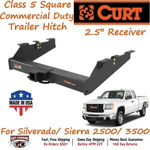 15703 Curt Class 5 Commercial Duty Trailer Hitch W 2 5 Receiver 2500 3500 Hd