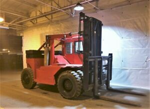 45 000 Lbs Capacity Forklift Truck Taylor Y 45 wos 6 Forks Diesel Engine
