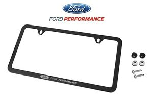 Mustang F 150 Ford Performance Black Stainless Steel License Plate Frame