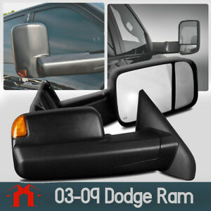 For 2002 2008 Dodge Ram 1500 Power Heated Towing Mirrors 03 09 Ram 2500 3500