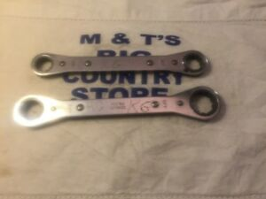 Snap on Tools 2pc 12 Point Ratcheting Wrench Set R 2022 R 2428 Usa