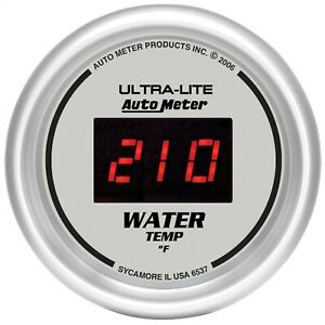 Autometer 6537 Ultra lite Digital Water Temperature Gauge 2 1 16 0 340 Deg F
